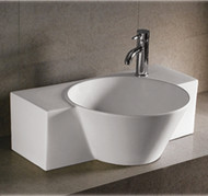 Whitehaus WHKN1110 Isabella Bath Basins Rectangular Above Mount Basin with an Integrated Round Bowl (WHKN1110)