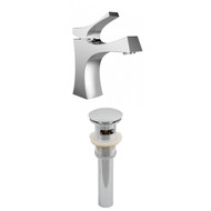 American Imaginations Single Hole CUPC Approved Brass Faucet Set in Chrome Color w/ Drain