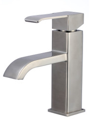 American Imaginations Single Hole CUPC Approved Brass Faucet in Stainless Steel Color