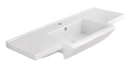 "American Imaginations 40"" W x 18.5"" D Ceramic Top in White Color for Single Hole Faucet"