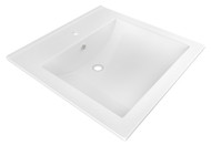 """American Imaginations 21.5"""" W x 18.5"""" D Ceramic Top in White Color for Single Hole Faucet"""
