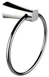 American Imaginations Brass Constructed Towel Ring in Chrome Finish