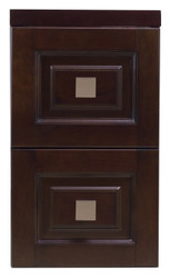 "American Imaginations 11.75"" W x 22"" H Transitional Birch Wood-Veneer Modular Drawer in Tobacco"