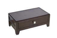 "American Imaginations 32.5"" W x 12.5"" H Transitional Birch Wood-Veneer Modular Drawer in Tobacco"