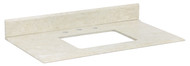 """American Imaginations 36"""" W x 19.5"""" D Marble Top in Beige Color for 8"""" o.c. Faucet"""