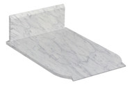 "American Imaginations 13.25"" W x 19"" D Marble Top in Bianca Carara Color for  Faucet"