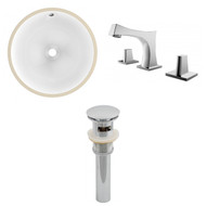 "American Imaginations 16.5""W x 16.5""D CUPC Round Undermount Sink Set in White"