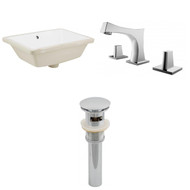 "American Imaginations 18.25""W x 13.5""D CUPC Rectangle Undermount Sink Set in White"