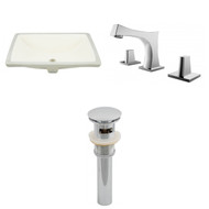 "American Imaginations 18.25""W x 13.5""D CUPC Rectangle Undermount Sink Set in Biscuit"