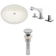"American Imaginations 19.25""W x 16""D CUPC Oval Undermount Sink Set in Biscuit"