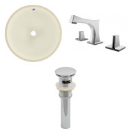 "American Imaginations 15.5""W x 15.5""D CUPC Round Undermount Sink Set in Biscuit"
