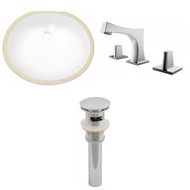 "American Imaginations 19.5""W x 16.25""D CUPC Oval Undermount Sink Set in White"