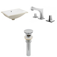 "American Imaginations 20.75""W x 14.35""D CUPC Rectangle Undermount Sink Set in White"