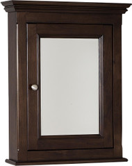 "American Imaginations 22.5"" W x 30"" H Traditional Birch Wood-Veneer Medicine Cabinet in Walnut"