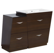 "American Imaginations Plywood-Melamine Vanity Set in Wenge w/ 8"" o.c. CUPC Faucet"