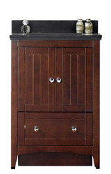 "American Imaginations Shaker 24"" Plywood-Veneer Single Sink Vanity Set in Walnut"