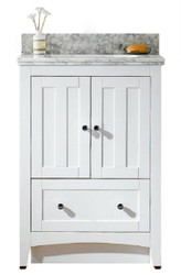 "American Imaginations Shaker 24"" Plywood-Veneer Single Sink Vanity Set in White 