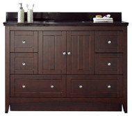 "American Imaginations Shaker 48"" Plywood-Veneer Single Sink Vanity Set in Walnut 