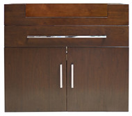 "American Imaginations 31.5"" W x 16"" D Transitional Birch Wood-Veneer Vanity Base Only in Walnut"