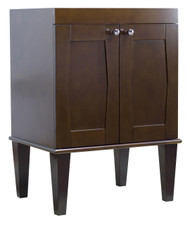"American Imaginations 22.75"" W x 18"" D Transitional Birch Wood-Veneer Vanity Base Only in Antique Walnut"