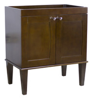 "American Imaginations 28.75"" W x 18.3"" D Transitional Birch Wood-Veneer Vanity Base Only in Antique Walnut"