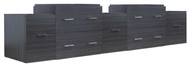 "American Imaginations 88.5"" W x 18"" D Modern Wall Mount Plywood-Melamine Vanity Base Only in Dawn Grey"