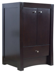 """American Imaginations 31.75"""" W x 17.75"""" D Transitional Birch Wood-Veneer Vanity Base Only in Distressed Antique Walnut"""