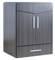 "American Imaginations 23"" W x 18"" D Modern Wall Mount Plywood-Melamine Vanity Base Only in Dawn Grey"