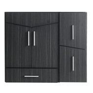 "American Imaginations 35"" W x 18"" D Modern Wall Mount Plywood-Melamine Vanity Base Only in Dawn Grey"