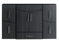 "American Imaginations 47"" W x 18"" D Modern Wall Mount Plywood-Melamine Vanity Base Only in Dawn Grey"