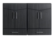 "American Imaginations 46"" W x 18"" D Modern Wall Mount Plywood-Melamine Vanity Base Only in Dawn Grey"