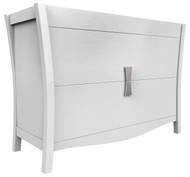 "American Imaginations 46.5"" W x 18"" D Modern Birch Wood-Veneer Vanity Base Only in White"