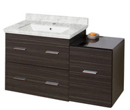 "American Imaginations 37.25"" W x 18"" D Modern Wall Mount Plywood-Melamine Vanity Base Only in Dawn Grey"