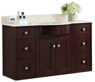 "American Imaginations 48.25"" W x 21"" D Transitional Wall Mount Birch Wood-Veneer Vanity Base Only in Coffee"