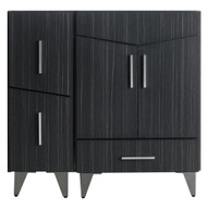 American Imaginations Modern Plywood-Melamine Vanity Base Set Only in Dawn Grey