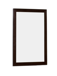 "American Imaginations 21.25"" W x 31.5"" H Modern Plywood-Veneer Wood Mirror in Wenge"