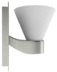"American Imaginations 5"" W Square Brass Wall Mount Wall Sconce in Brushed Nickel Color"