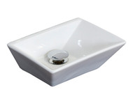 American Imaginations Rectangle Vessel Set in White Color w/ Deck Mount CUPC Faucet