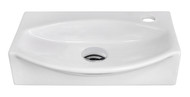 """American Imaginations 16.5"""" W x 12"""" D Wall Mount Unique Vessel in White Color for Single Hole Faucet"""