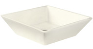 """American Imaginations 15.75"""" W x 15.75"""" D Above Counter Square Vessel in Biscuit Color for Deck Mount Faucet"""