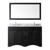 "Virtu USA Talisa 60"" Double Round Sink Espresso Top Vanity in Espresso with Mirror"