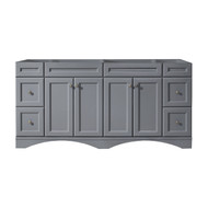 "Virtu USA Talisa 71"" Cabinet Only in Grey"