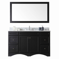 "Virtu USA Talisa 60"" Single Round Sink Espresso Top Vanity in Espresso w/ Mirror"