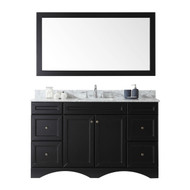 "Virtu USA Talisa 60"" Single Square Sink Espresso Top Vanity in Espresso with Mirror"