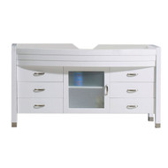 "Virtu USA Ava 55"" Cabinet Only in White"