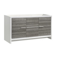 "Fresca Allier Rio 60"" Ash Gray Single Sink Modern Bathroom Cabinet"
