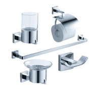 FAC1100 | Fresca Glorioso 5-Piece Bathroom Accessory Set - Chrome