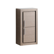 FST8140GO | Fresca Gray Oak Bathroom Linen Side Cabinet w/ 2 Doors