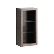 FST8130GO | Fresca Gray Oak Bathroom Linen Side Cabinet w/ 2 Glass Shelves