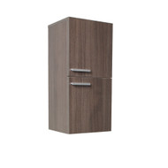 FST8091GO | Fresca Gray Oak Bathroom Linen Side Cabinet w/ 2 Storage Areas
